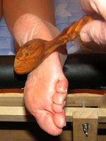 Bastinado hard punish of feet