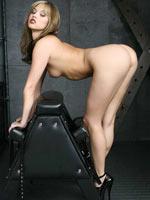 Bondage pornstar in heels