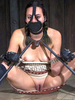 Shackled and tortured sub