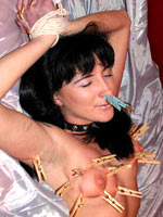 Russian lesbians clothespins play