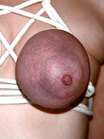 Turned on by extreme breast play