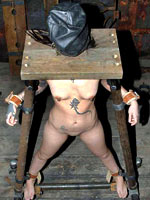Restrained and shackled sub