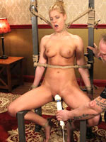 Tight bodied Hollie in tight hard BDSM