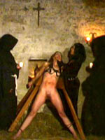 Medieval interrogation of witch
