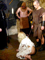 Medieval torture of blonde
