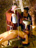 Medieval Cross-examination water torture