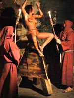 Torture on the judas cradle