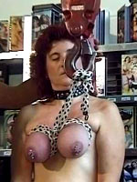 Hanged using rope on the tits