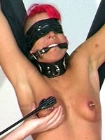 Pink pierced and shaved slave