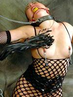 Naughty brunette slave