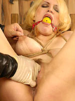 Blonde bound and fisted
