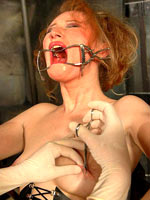 Needleplay for redhead slut