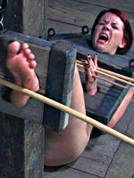 Slave shackled and fucked