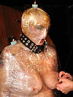 Plastic wrap mummification and fire