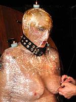 Plastic wrap mummification and fire