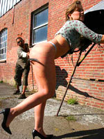 Girl whipped outdoor