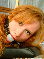 Red-haired girl headed adjacent to