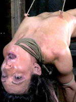 Woman loving nipples torture