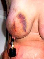 Amateur torture of nipples