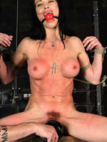 Zoe tortured in the dungeon