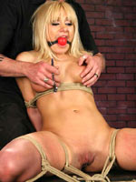 Blonde tied up and hanged