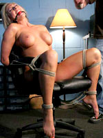 Blonde slut tied and tortured