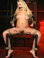 Blonde slut crucified and tortured
